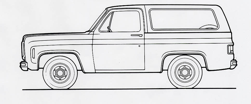 outline drawings of chevy c10 truck