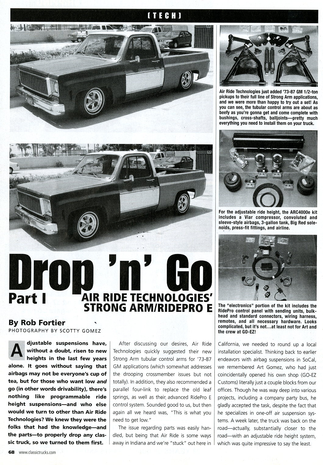 Air Ride Installation Article C10 Wiring Harness Install After To Suspension On A 73 87 C 10 These Articles Were From The Xx 20xx Issue Of Classic Trucks Magazine Click Thumbnails Below