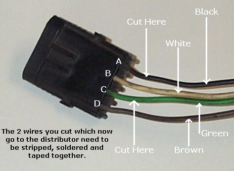 replacing the esc distributor with a non esc rh 73 87 com RC Wiring Diagrams RC Car Receiver Wiring Diagram