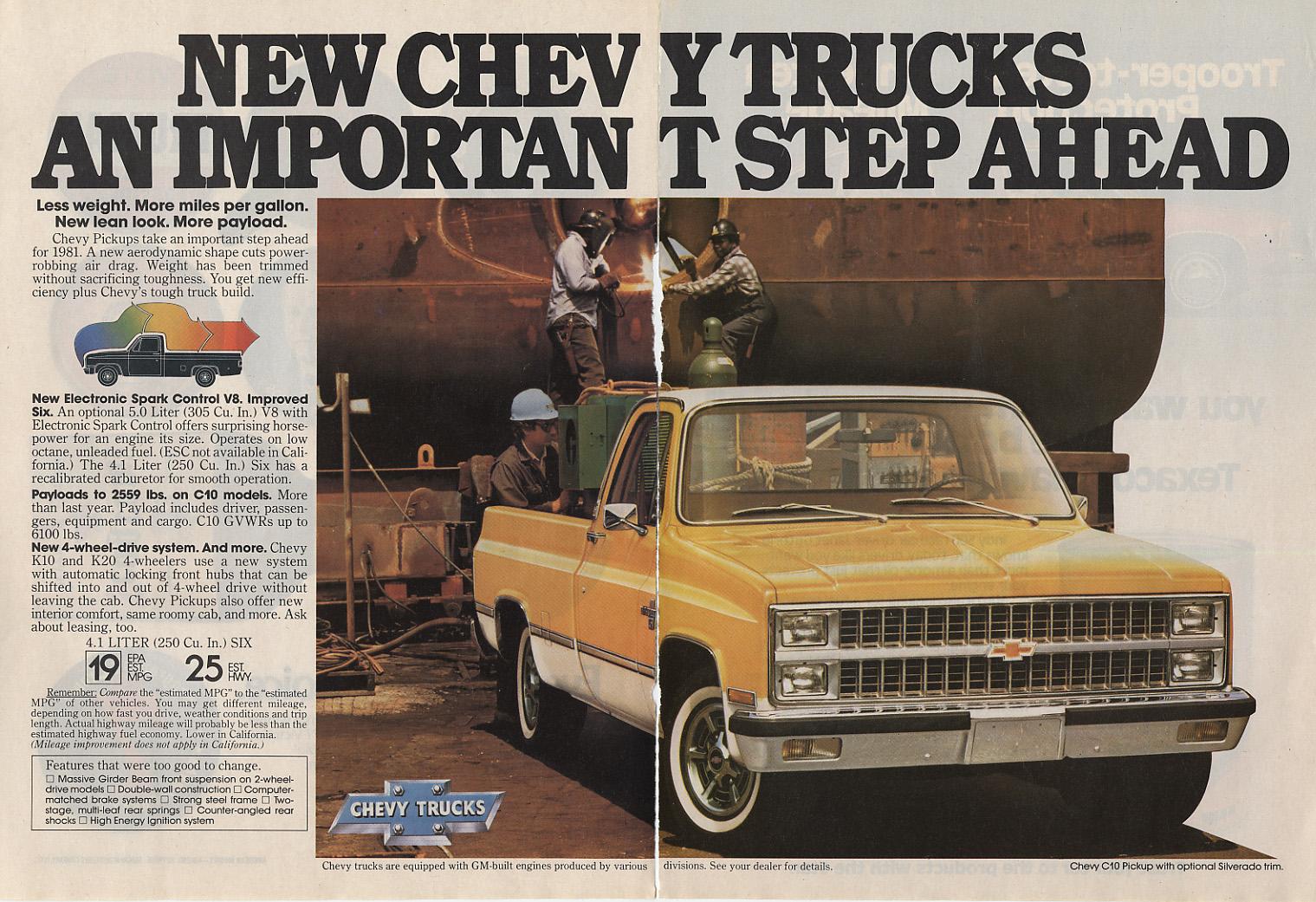 Chevrolet C K 1964 Chevy Truck Paint Colors Vintage 81 87 Gm Advertisements