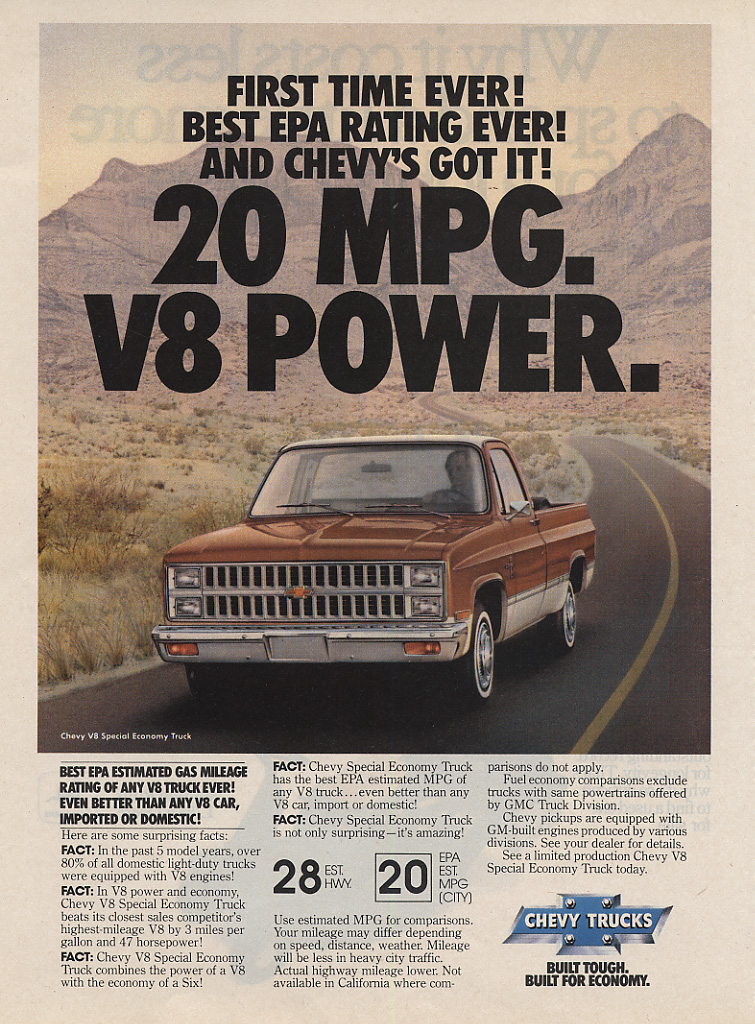 1972 chevy c10 mpg