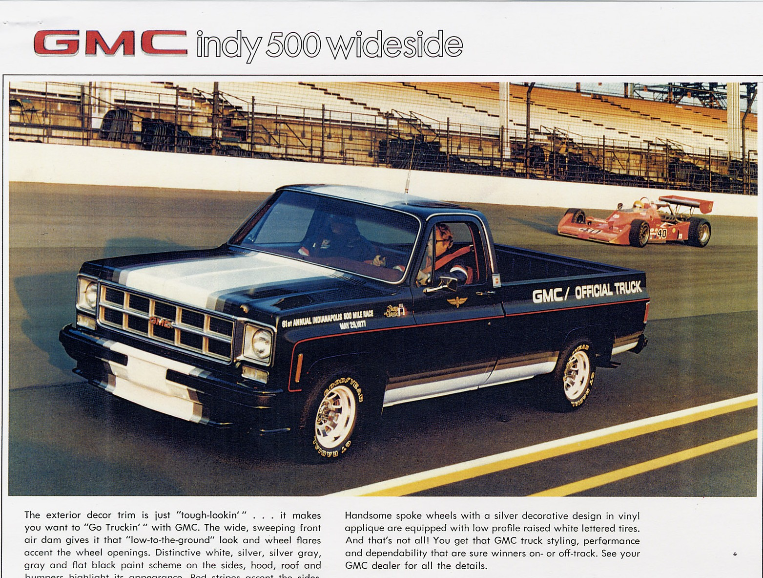 Truck 1977 chevy truck hood : 1977 GMC Indy 500 Wideside Limited Edition Pickup | Sqaurebodies ...